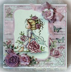 I tell ya, just when you thought they couldn't get any cuter, feast your eyes on this sweet image from Wee Stamps! She is the newest April release available today at the Wee Stamps store and her name is Rosetta. Cute Cards, Diy Cards, Scrapbook Cards, Scrapbooking, Whimsy Stamps, Hand Stamped Cards, Hobby House, Beautiful Handmade Cards, Tampons