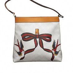 c1f6926c5e Gucci White Canvas Bird Ribbon Tattoo Handbag Meier Hobo Bag 9075 254639     For more information