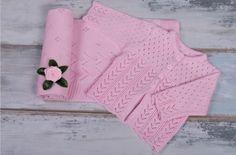 Babygirl Blanket and Babygirl Jumper - Pink