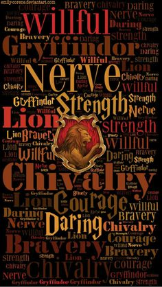 This print embodies the unique traits of the House of Gryffindor. This is what it takes to become a student of Gryffindor; confident, passionate and brave are all traits that we see possessed by the Gryffindor characters in Harry Potter. Casas Estilo Harry Potter, Mundo Harry Potter, Harry Potter Quotes, Harry Potter Love, Harry Potter Universal, Harry Potter Fandom, Harry Potter World, Harry Potter Houses Traits, Imprimibles Harry Potter