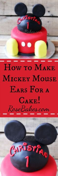 How to Make Mickey Mouse Ears for a Cake Tutorial