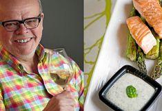 Håkan Larsson tipsar om lättlagad lax med basilikasås och gott vin till.