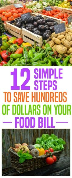 Food is probably your second highest bill every month. It's also the most flexible. To save money every month practice some of these tips and keeps hundreds of more dollars in your pocket.