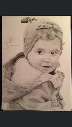 Commission of a child. Completed 2016. Drawing Commissions, Pencil Drawings, Marketing And Advertising, My Etsy Shop, Child, Trending Outfits, Handmade Gifts, Artist, Artwork