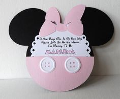 Minnie Mouse (Inspired) Baby Shower Light Pink Invitations QTY 10. $19.50, via Etsy.