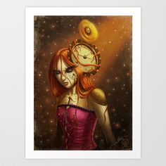 "Cluster Headache Awareness Campaign ""Time After Time..."" Art Print by Arte Cluster - $22.00"