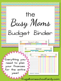 Download this free Busy Mom's Budget Binder from Frugal Homeschool Family.