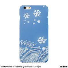 frosty winter snowflakes glossy iPhone 6 plus case