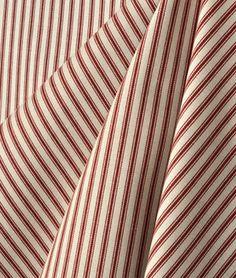 Waverly Timeless Ticking - Crimson #Fabric #stripes #red