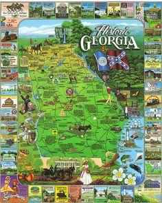 Georgia State Flag Coloring Page Georgia History Fair - Georgia map games