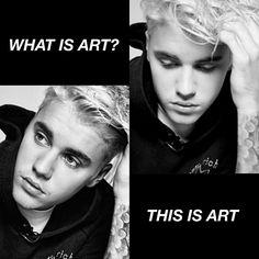 He looks like art.