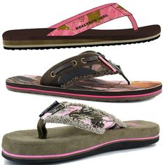 Realtree and Camo Flip Flops