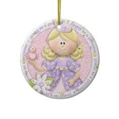 Pretty as a princess photo ornament