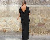 Black backless dress, Maxi dress, Caftan, Abaya, Caftan dress, Party dress, Summer dress