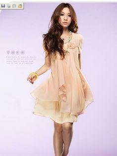 She's BAZAAR: Korea Chiffon Dress