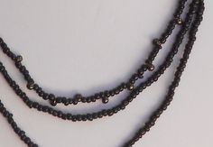 black layered multi strand necklace by LoveHAIGHTDesigns on Etsy, $12.00