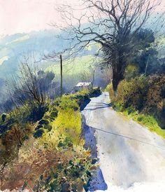 Down in Misty Vale.Richard Thorn #watercolorarts #abstractart