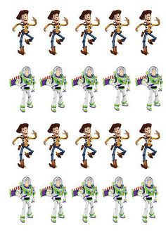 Stand up toy story cupcake toppers