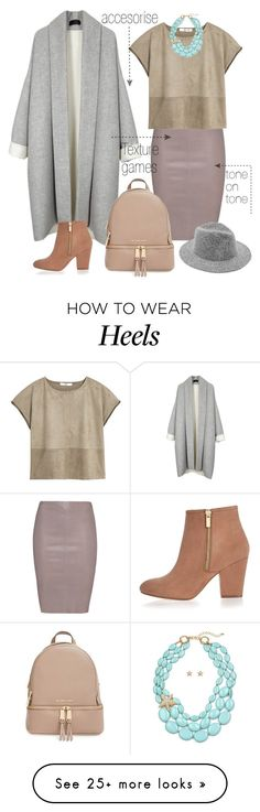 """HOW tO:Tone ON Tone"" by eiliana on Polyvore featuring Jitrois, MANGO, MICHAEL Michael Kors, River Island, women's clothing, women's fashion, women, female, woman and misses"