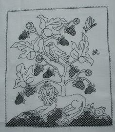 Blackwork tree of life