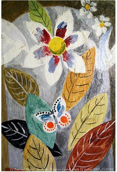 Duncan Grant, Vanessa Bell paint doors, furniture, fireplaces, and this pulpit. Duncan Grant, Duncan James, Vanessa Bell, Art Floral, Dora Carrington, Bloomsbury Group, Oeuvre D'art, Les Oeuvres, Painting & Drawing