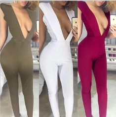 Hot fashion design 2016 v-neck full length rompers sexy women rompers elegant summer rompers 7368