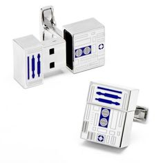 These aren't the cufflinks you are looking for: Show you're a fan with Star Wars R2D2 USB cufflinks. Gadgets, Star Wars 0