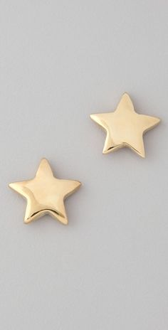 Shopbop.com, $33.60, these earrings are so cute!  Gold isn't really my color, but I feel like I could get by with wearing these. Dainty Jewelry, Cute Jewelry, Jewelry Box, Jewelery, Jewelry Making, Jewelry Accessories, Gold Star Earrings, Jewellery Earrings, Gold Jewellery