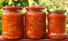 notatki kulinarne: Leczo - przepis przywieziony z Budapesztu Polish Recipes, Foods With Gluten, Dory, Preserves, Pickles, Salsa, Frozen, Food And Drink, Gluten Free