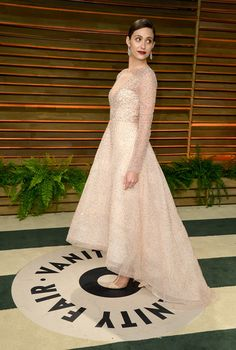 Actress Emmy Rossum attends the 2014 Vanity Fair Oscar Party hosted by Graydon Carter on March 2, 2014 in West Hollywood, California.