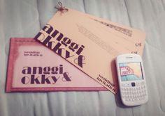 Anggi and Okky wedding invitation