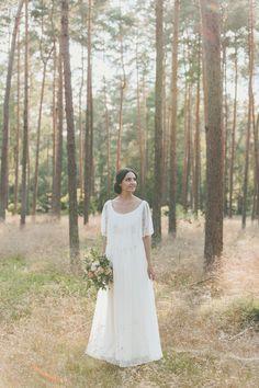 Romantisches Brautkleid mit aus Spitze, Vintage Look / romantic boho ...