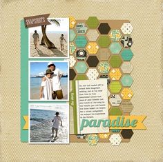love the ppaper punched shapes on this layout.