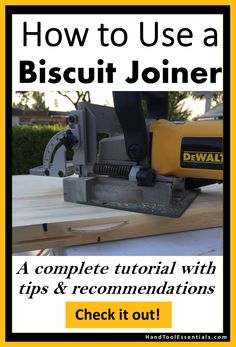 Don't settle for a power drill & dowel when building table tops. Use a biscuit joiner to get a seamless flat top. Our free tutorial will show you some of the most important tips & secrets for getting perfect joins. Come to our website to read more!