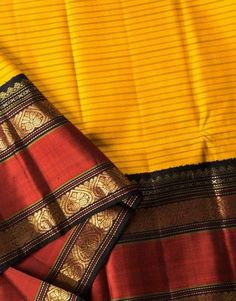 mango yellow kanjivaram saree