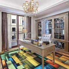 European Mediterranean Carpet In The Living Room Sofa Table Mats Anti-skid Pad Trend Bedroom Mat