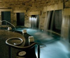 Spa at the St Regis Resort in Aspen, Colorado. Want this for my dream home Colorado Springs, Aspen Colorado, Boutiques, Piscina Interior, Best Spa, Hotel Pool, Spa Design, Luxury Spa, Houses