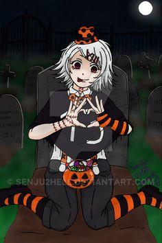 Trick or Treat? ( Suzuya Juuzou - Tokyo Ghoul ) by Juuzou Tokyo Ghoul, Juuzou Suzuya, Pretty Star, Trick Or Treat, Make Me Smile, Besties, Halloween Costumes, Anime, Fan Art