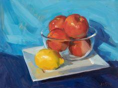Tomatoes & Lemon Tomatoes, Lemon, Sketches, Painting, Art, Drawings, Art Background, Painting Art, Kunst