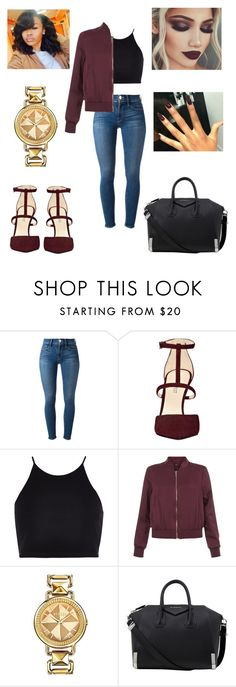 """""""Untitled #1084"""" by jwolley ❤ liked on Polyvore featuring Frame, Nine West, River Island, New Look, Versus and Givenchy"""