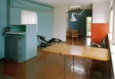 House of the Day: Villa Le Lac by Le Corbusier Bauhaus, Interior Decorating, Interior Design, Pierre Jeanneret, Architect Design, Stores, Colorful Interiors, Living Spaces, Modern Design