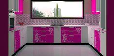 C-Shaped Modular Kitchen Designed by Design Indian Kitchen Visit www. Wardrobe Design Bedroom, Bedroom Bed Design, Wardrobe Closet, Kitchen Room Design, Kitchen Designs, Kitchen Decor, G Shaped Kitchen, Funky Kitchen, Kitchen Modular