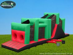 The Bounce Department's Inflatable Obstacle Course is available to hire for any event in Hampshire and Surrounding areas!