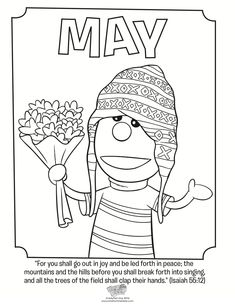 May Coloring Page - Isaiah 55:12 - Whats in the Bible