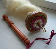 Wrist Distaff and Drop Spindle