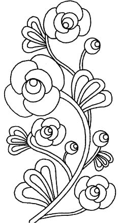 Embroidery Flower Patterns flower Page Printable Coloring Sheets Hand Embroidery Patterns, Ribbon Embroidery, Embroidery Stitches, Embroidery Designs, Embroidery Scissors, Coloring Sheets, Coloring Books, Colouring, Kids Coloring