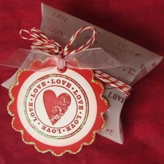 LOVE Pillow Box, Gift Tag and twine