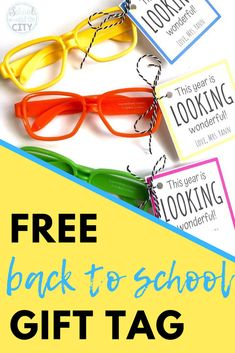Looking for an easy and fun back to school gift for students? Snag some cheap glasses from Target or Amazon, then use my free gift tags! #backtoschool