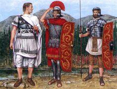 """Trajan's winter campaign on the lower Danube, First Dacian War"" -Praetorian tribune -Praetorian centurion -Praetorian guardsman"