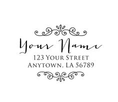 Personalized Custom Made Return Address Rubber by mycustomstamps